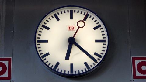 Deutsche Bahn Rapid Transport Train Clock Timelapse Footage