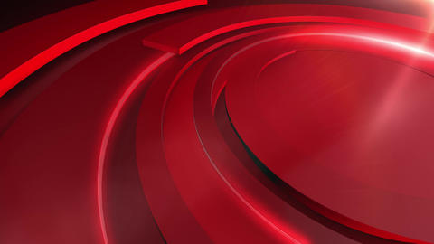 News Backdrop Red Rings Animation