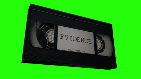 VHS Tape Evidence Animation CG動画素材