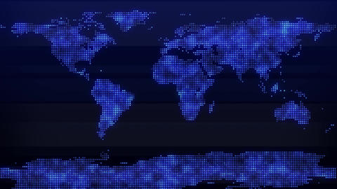 News Backdrop World Map Dots Animation