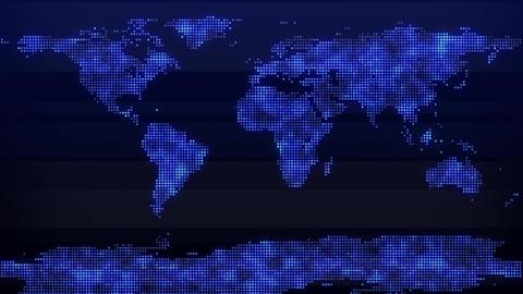 News Backdrop World Map Dots CG動画素材