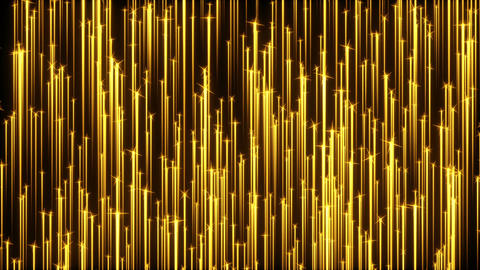 Golden Particle Streaks Animation