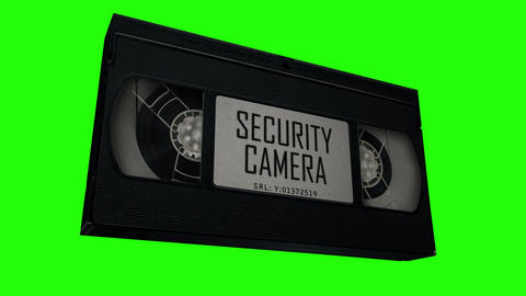 VHS Tape Security Camera Evidence Animation
