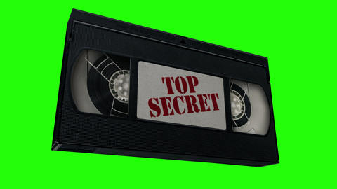 VHS Top Secret Tape Animation CG動画素材