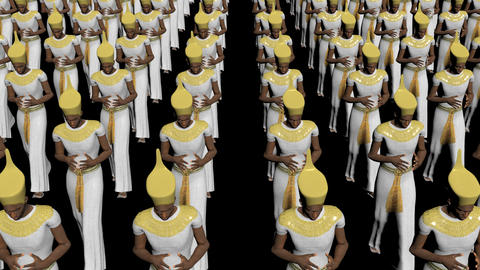 The regiment of the pharaohs moves forward, ,loop, animation, Alpha channel Animation