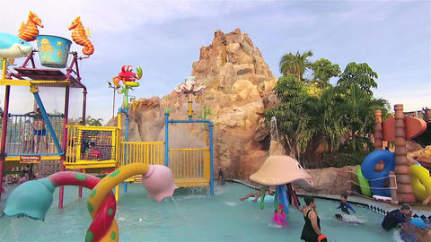 Bangkok, Thailand - April 2017: Happy time in the water park 영상물