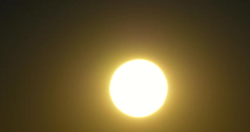 Closeup Of Solar Sun Disc At Sunset Footage