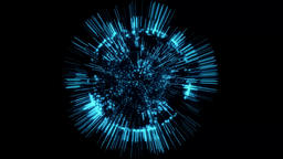 3D Tron Blue Hologram Sphere Animation Background Backdrop Graphic Element Animation