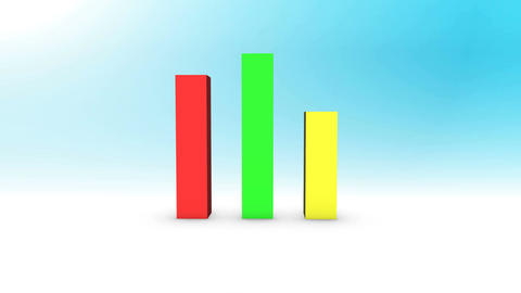 3D Growing Business Chart Animation