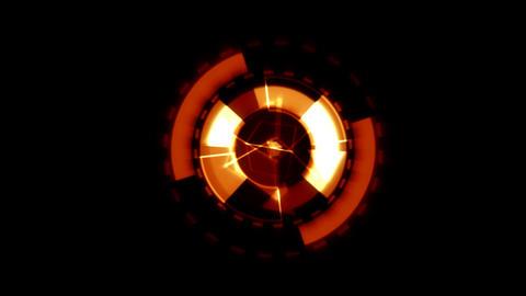 Arrow Interface Data Loader Orange Glow Circular Round with Light Rays. Alpha Ch Animation