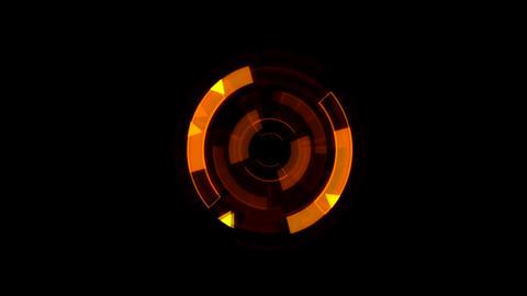 Interface Data Loader Orange Glow Circular Round. Alpha Channel Animation