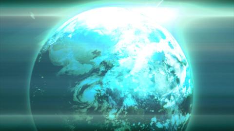 Earth glow CG動画素材
