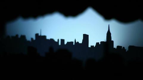 Night Paper City Footage