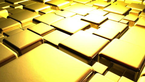 Golden Cubes Background In 4k Animation