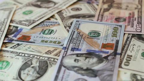 Rotating Dollars Banknotes 5 Footage