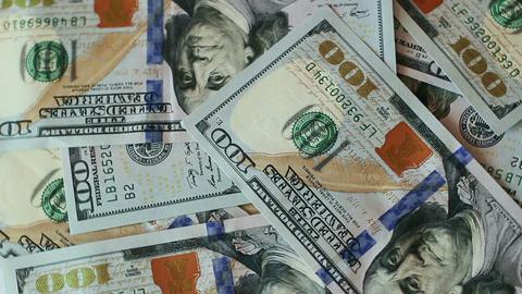 Rotating Dollars Banknotes 3 Footage