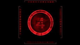 Random Numbers Red Display Graphic Element. Alpha Channel... Stock Video Footage