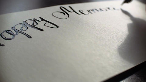 Happy Memorial day calligraphy and lettering post card.…, Live Action