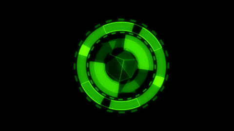 Arrow Interface Data Loader Green Glow Circular Round Animation