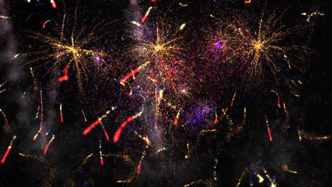 Fireworks in the Night Sky Animation Background CG動画素材