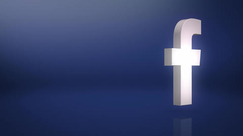 Facebook Icon Text Background Animation