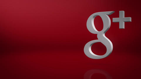 Google Plus Icon Text Background Animation