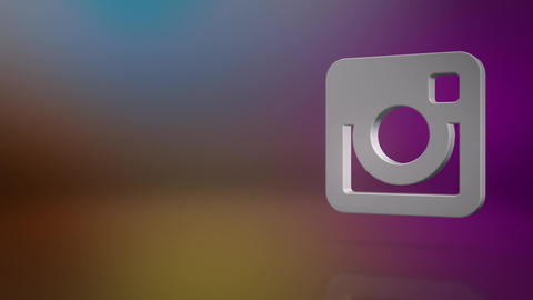 Instagram Icon Text Background Animation