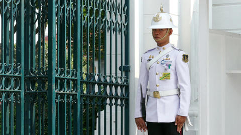 Sentinel Royal Palace Bangkok 4k Archivo