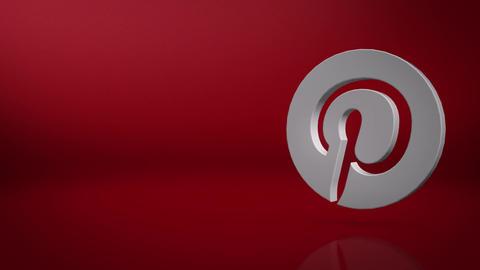 Pinterest Icon Text Background Animation