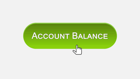 Account balance web interface button clicked with mouse, different color choice Footage