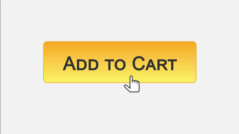 Add to cart web interface button clicked with mouse cursor, different colors Footage