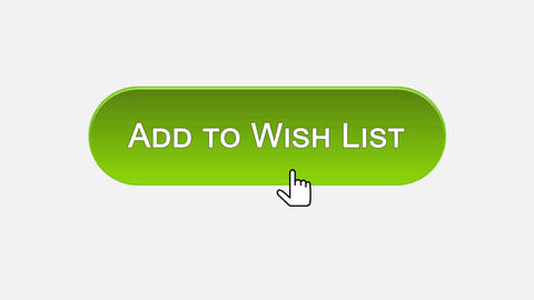 Add to wish list web interface button clicked with mouse, different color choice Footage