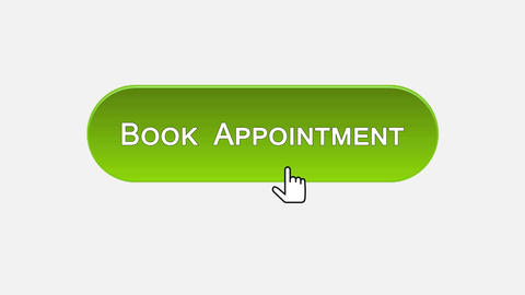 Book appointment web interface button clicked with mouse, different color choice Footage