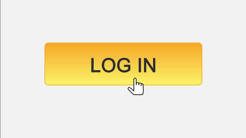 Log in web interface button clicked with mouse cursor, different color choice Footage