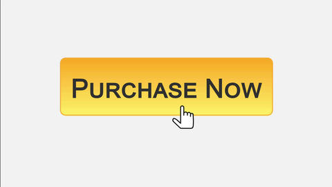 Purchase now web interface button clicked with mouse, different color choice Footage