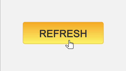 Refresh web interface button clicked with mouse cursor, different color choice Live Action