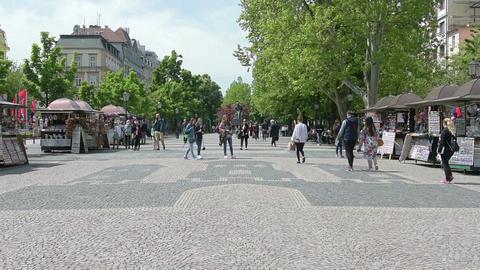 Hviezdoslavovo Square in Bratislava Live Action