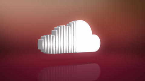 Sound Cloud Icon Motion Background Animation