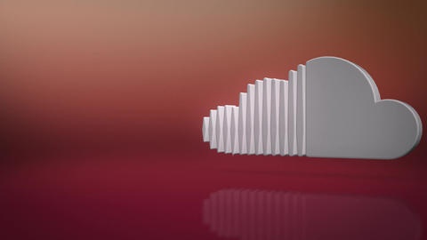 Sound Cloud Icon Text Background Animation