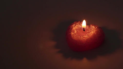 Romantic Heart Candle Footage