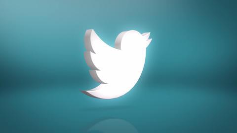 Twitter Icon Motion Background Animation