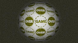 Decorative video with rotating sphere and text game over Animation