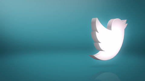 Twitter Icon Text Background Animation