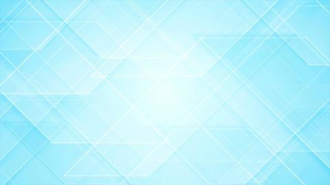 Bright blue tech geometric video animation Animation