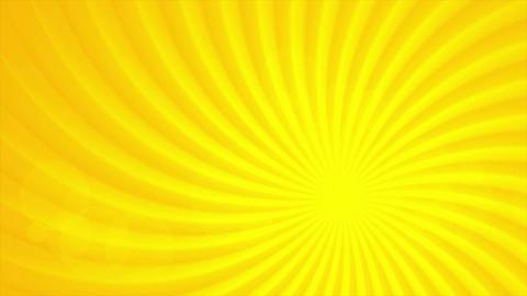 Bright orange sun beams video animation Animation