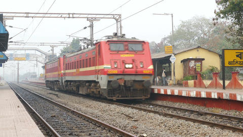 Kolkata Train Station India 4k Footage
