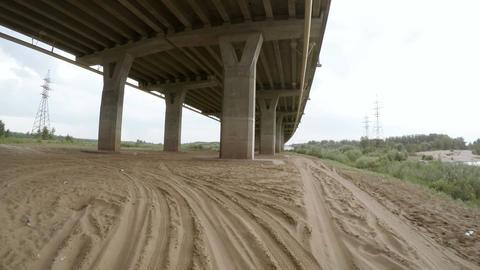Rear view of car driving along a rural dirt road ビデオ