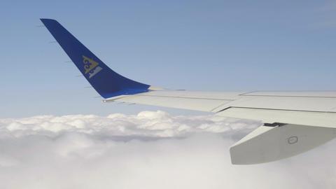 Aerial cumulus cloudscape Footage