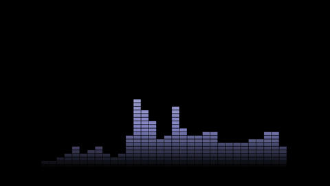 Music pulse with audio meters moving. Motion graphics background. Concept of dan Animation