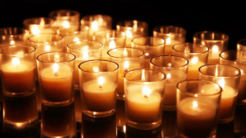 Close Up Background Of Candles Filmmaterial